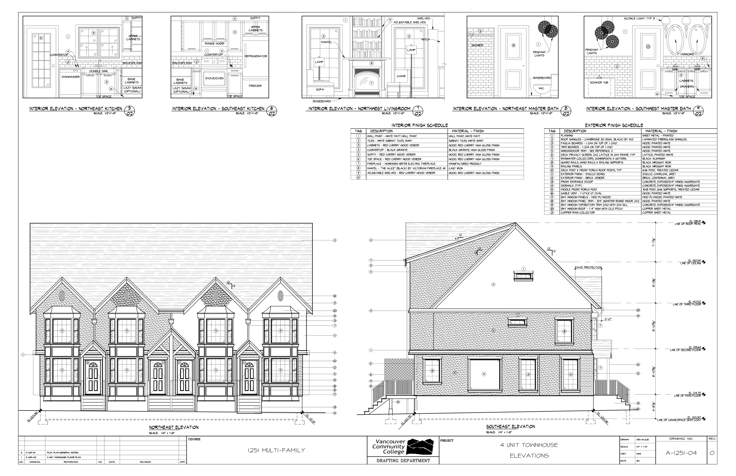 Multi family residential town house plans House building plans